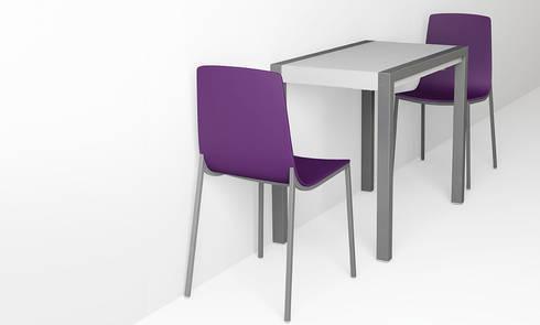 kleiner esstisch concept minor berraschend nach vorne ausziehbar mit gepolstertem stuhl. Black Bedroom Furniture Sets. Home Design Ideas