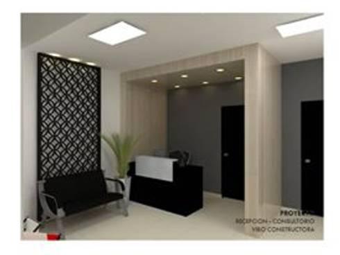 Diseño Interior- Consultorio Medico: Estudios y oficinas de estilo moderno por VIBO CONSTRUCTORA
