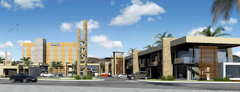 PLAZA POZA RICA: Casas de estilo moderno por TREVINO.CHABRAND | Architectural Studio
