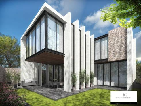 RESIDENCIA SH 2: Casas de estilo moderno por TREVINO.CHABRAND | Architectural Studio