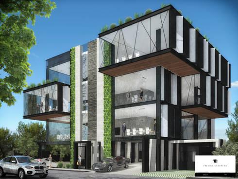 TORRE 514 (2): Casas de estilo moderno por TREVINO.CHABRAND | Architectural Studio