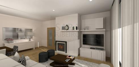 Stripes & Flower Living Room: Salas de estar ecléticas por Sara Ribeiro - Arquitetura & Design de Interiores