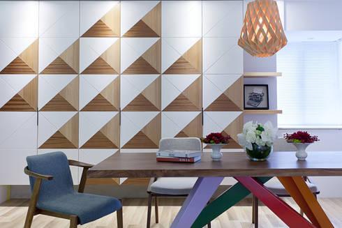 三角和諧:  餐廳 by 大晴設計有限公司