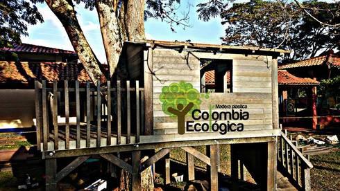 Madera Plástica : Balcones y terrazas de estilo  por Madera Plástica Colombia Ecológica