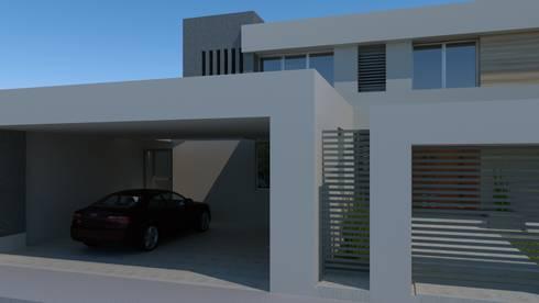 Casa Miradores del Mar: Garajes de estilo minimalista por CouturierStudio