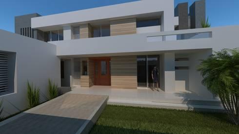 Casa Miradores del Mar: Casas de estilo minimalista por CouturierStudio