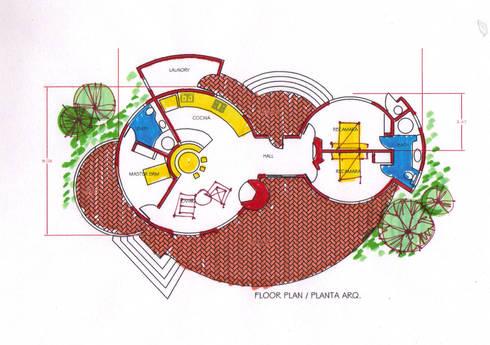 Planta :  de estilo  por Arquitectos Romero