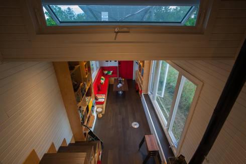 Greenmoxie Tiny House: minimalistic Living room by Greenmoxie Magazine