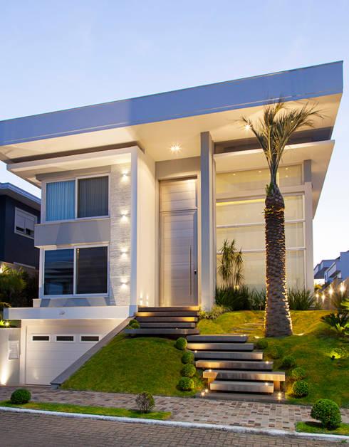 Resid ncia n c por andr pacheco arquitetura homify for Fachadas de casas modernas en italia