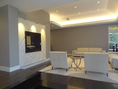 Burlington Residence: modern Living room by Lex Parker Design Consultants Ltd.