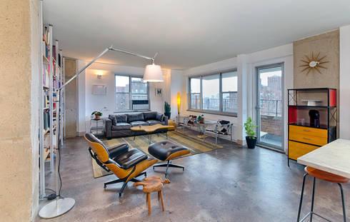 Living Room: modern Living room by Greg Colston Architect