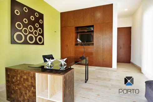 <q class='-first'>PROYECTO LDZ26</q>: Estudios y oficinas de estilo ecléctico por PORTO Arquitectura + Diseño de Interiores