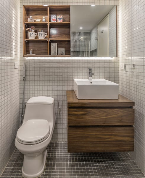 modern Bathroom by CENTRAL ARQUITECTURA