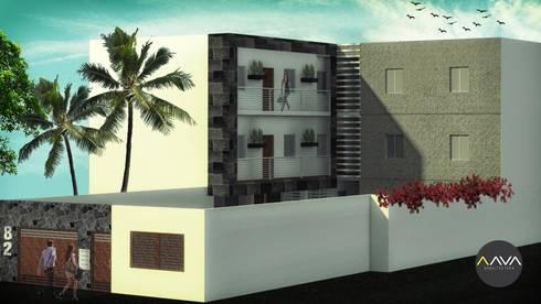 Departamentos:  de estilo  por AAVA Arquitectura