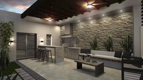 Residencia Corceles: Casas de estilo moderno por MOBAH Arquitectura