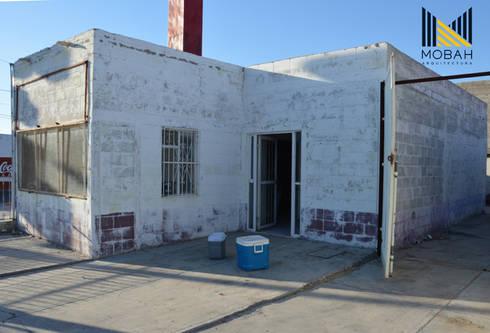 Estado actual de la propiedad: Restaurantes de estilo  por MOBAH Arquitectura