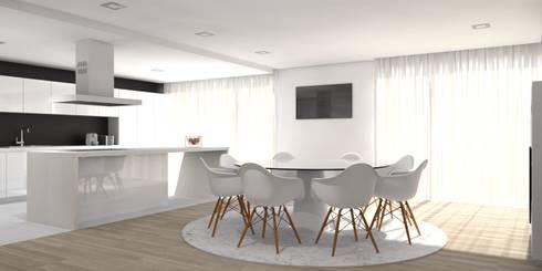 Moradia – Vila Verde: Cozinhas modernas por Equevo - Interiores Design