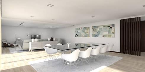 Moradia – Vila Verde: Salas de jantar modernas por Equevo - Interiores Design