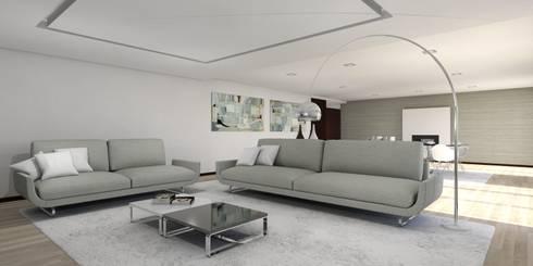 Moradia – Vila Verde: Salas de estar modernas por Equevo - Interiores Design