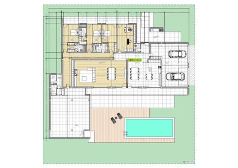 Moradia – Vila Verde: Quartos modernos por Equevo - Interiores Design