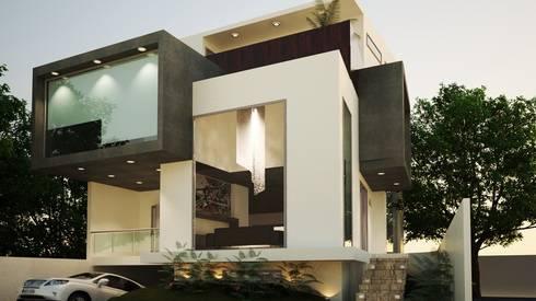 residencial: Casas de estilo minimalista por Oriente Arquitectos