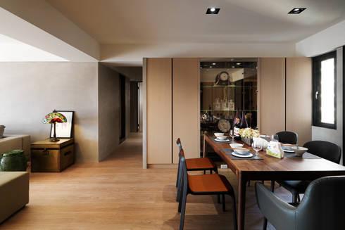 光復大廈:  餐廳 by AIRS 艾兒斯國際室內裝修有限公司