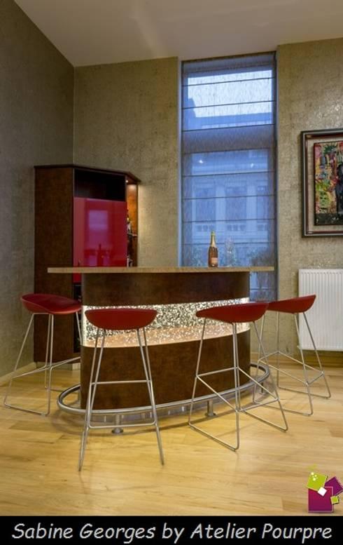 Conception comptoir-bar rétro éclairé by Atelier Pourpre Design ...