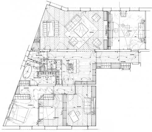 appartement classique contemporain paris neuilly par philippe ponceblanc architecte d 39 int rieur. Black Bedroom Furniture Sets. Home Design Ideas