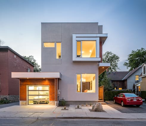 Fold Place: modern Houses by Linebox Studio