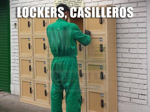 Lockers, Casilleros y Estanterías: Vestidores de estilo industrial por Maderplast S.A.