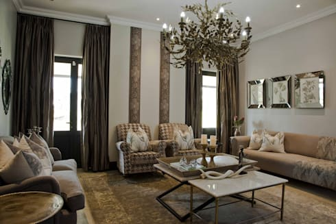 equestrian farm house: modern Living room by House of Decor
