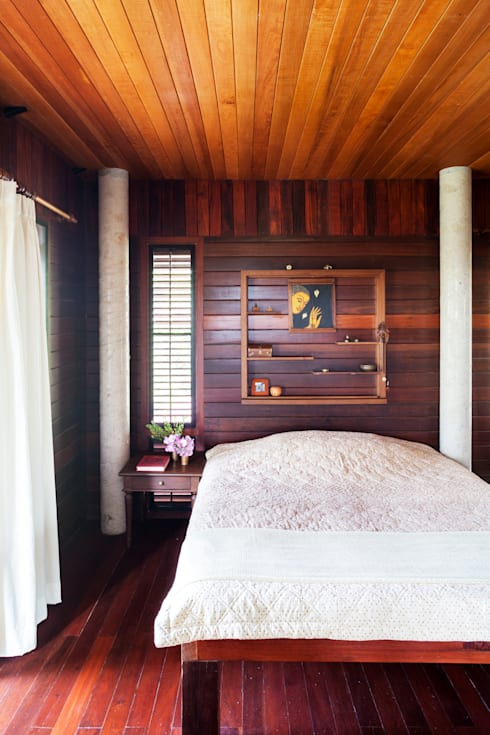 บริษัท สถาปนิกชุมชนและสิ่งแวดล้อม อาศรมศิลป์ จำกัดが手掛けた寝室