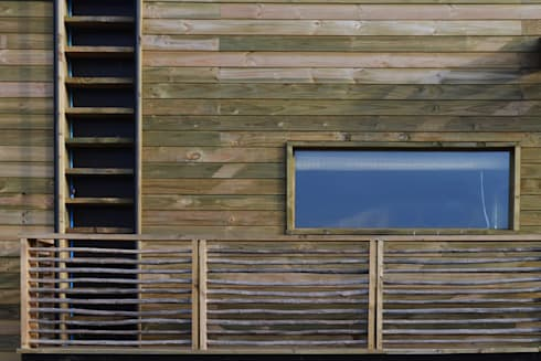 CASA TUNQUEN: Casas de estilo mediterraneo por BLAC arquitectos