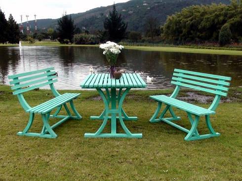 Muebles de madera teca para exteriores de Maderplast S.A.   homify