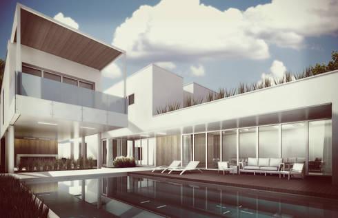 Área Social: Casas de estilo minimalista por Estudio Volante