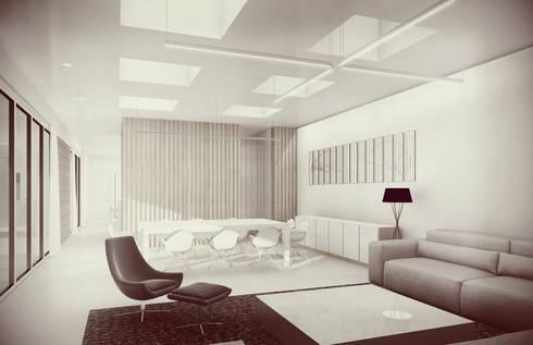 Sala / Comedor: Salas de estilo minimalista por Estudio Volante