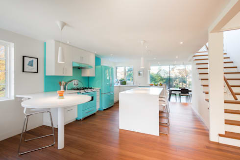 The Hambly House: modern Kitchen by dpai architecture inc