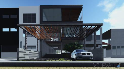 Fachada principal: Casas de estilo moderno por VOLEVA arquitectos