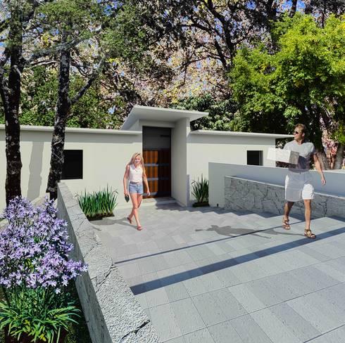 Fachada Pirncipal: Casas de estilo moderno por VOLEVA arquitectos
