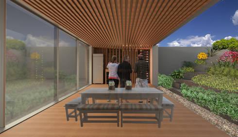 Desayunador: Cavas de estilo moderno por VOLEVA arquitectos