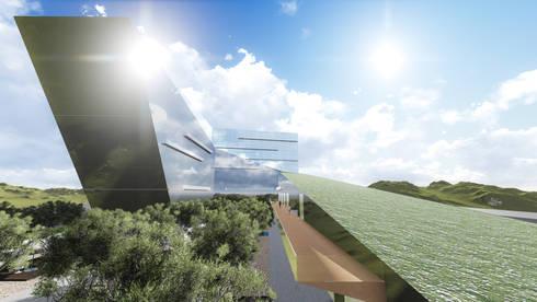 MALL – BUSINESS – HOUSING: Centros Comerciales de estilo  por Arquitectura AG