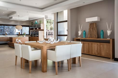 Home on a hill: modern Dining room by FRANCOIS MARAIS ARCHITECTS