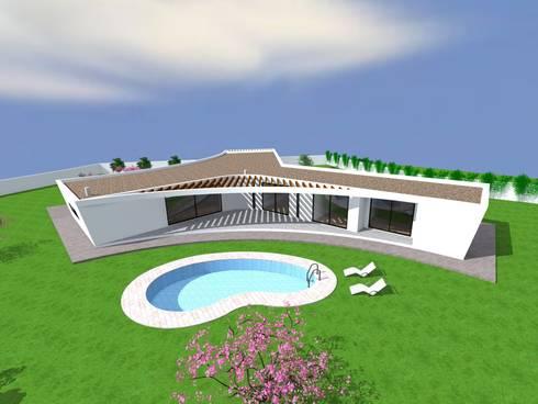"""Vivenda Unifamiliar """"AMAR"""": Casas modernas por Traço M - Arquitectura"""