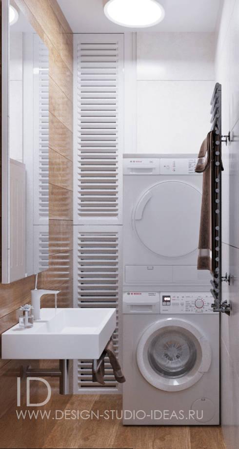 Санузел и мини прачечная в квартире: Ванные комнаты в . Автор – Студия дизайна Interior Design IDEAS