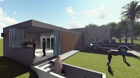 Vista Exterior: Casas de estilo moderno por Miro Arquitectura y Diseño