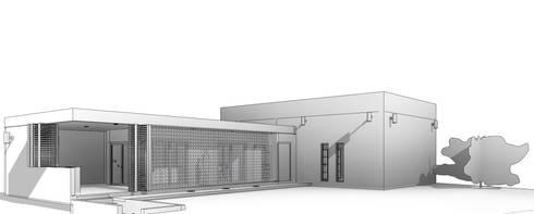 Perspectiva 3D: Casas de estilo moderno por Miro Arquitectura y Diseño