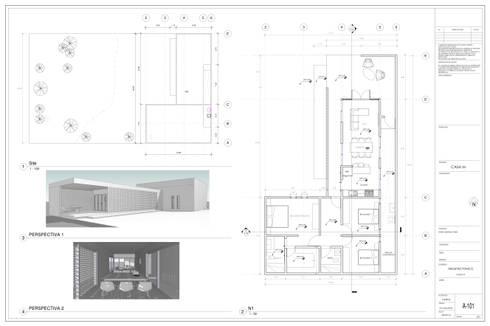 Planta Arquitectonica: Casas de estilo moderno por Miro Arquitectura y Diseño