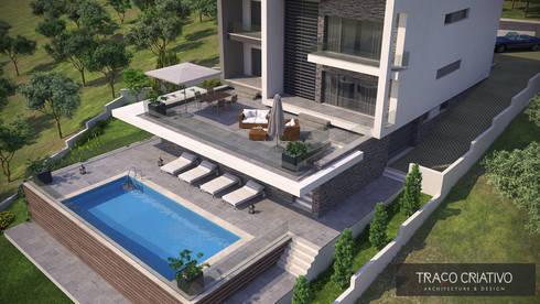 Moradia Unifamiliar – Famões – Odivelas: Casas modernas por Traço Criativo, Arquitetura, Planeamento e Design, Lda