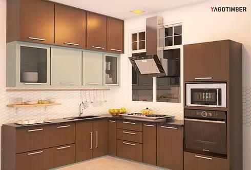 Yagotimber's Modular Kitchen Design  1: modern Kitchen by Yagotimber.com