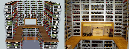 an example wine cellar: minimalistic Wine cellar by Richard Mclachlan - Homify